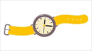 illustrazione di orologio da polso analogico vettore