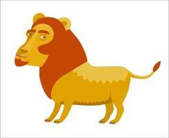 leone con una criniera rossa vettore