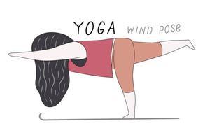 posa del vento yoga vettore