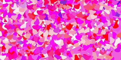 modello vettoriale viola chiaro, rosa con forme astratte.