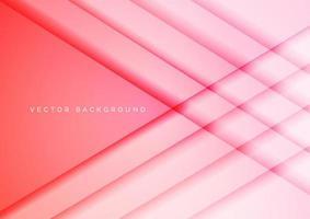 sfondo di sovrapposizione geometrica rosa rossa astratta. vettore