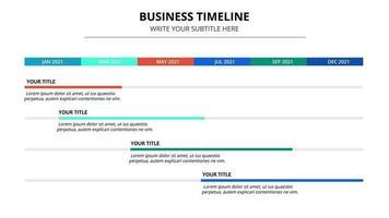 modello di infografica cronologia aziendale astratto vettore