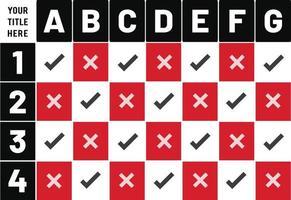 per fare la progettazione della tabella di pianificazione della lista di controllo vettore