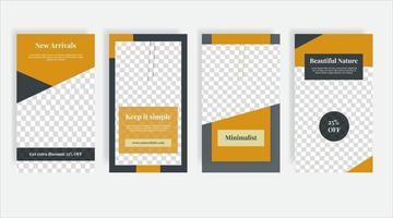 banner modello post social media mobili moderni vettore