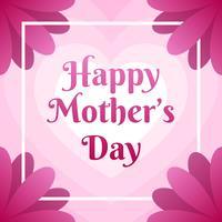 Cartolina d'auguri di festa della mamma con i bei fiori del fiore vettore
