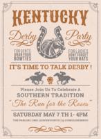 Invito alla festa del Kentucky Derby vettore