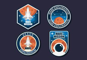 Patch Mission To Mars vettore