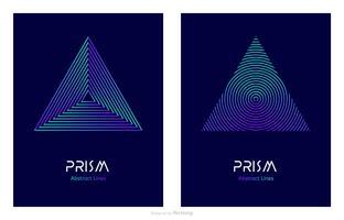 Modello astratto di vettore di Logo di Prisma di progettazione di linea