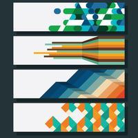 Banner geometrico vettore