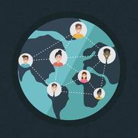 design piatto di social network media vettore