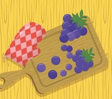 vista dall'alto del tavolo di preparazione del cibo vettore