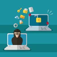 tecnologia design piatto di sicurezza internet vettore