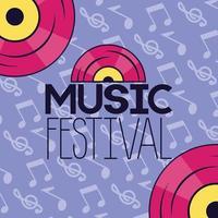 design carino festival musicale con icone pop