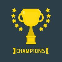 Illustrazione del trofeo dei campioni