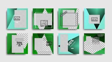 banner web quadrato di promozione moderna per i social media. illustrazione di disegno vettoriale