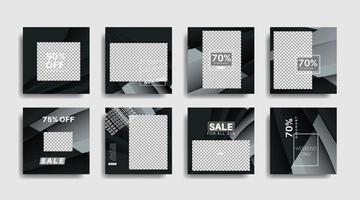 banner promozionali moderni quadrati modificati per post sui social media. illustrazione di disegno vettoriale