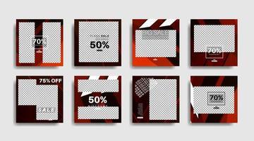 banner web quadrato di promozione moderna per i social media. disegno vettoriale