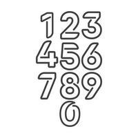 numeri dell'anniversario, set completo vettore