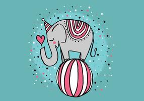 carino elefante da circo vettore