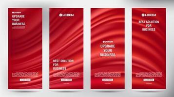 mesh flusso di colore roll up brochure aziendale flyer banner set