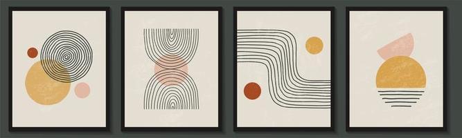 insieme contemporaneo alla moda di composizione geometrica astratta di forme minimaliste