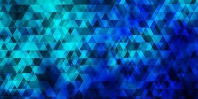 sfondo vettoriale azzurro, verde con linee, triangoli.