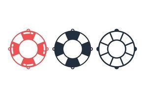 set di icone di anello di vita vettore