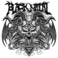 teschio in metallo nero vettore