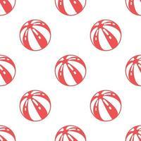 Seamless beach ball pattern di sfondo, vettoriale e illustrazione.