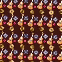 sfondo modello chitarra messicana vettore