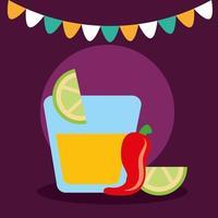 disegno vettoriale tequila messicana