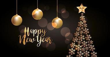 banner di celebrazione di felice anno nuovo vettore