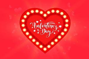 Buon San Valentino biglietto di auguri design con cornice vettore