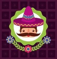 disegno vettoriale uomo fumetto messicano