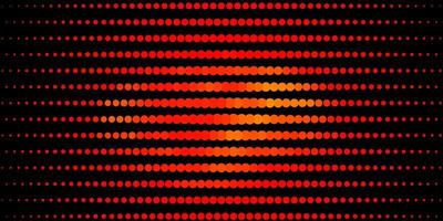 modello vettoriale arancione scuro con cerchi.