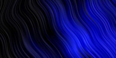modello vettoriale blu scuro con linee ironiche.