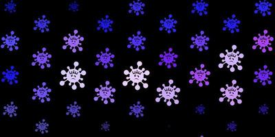 modello vettoriale viola scuro con segni di influenza.