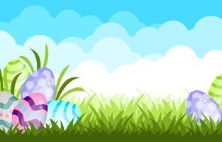 modello di sfondo carino uovo di Pasqua vettore