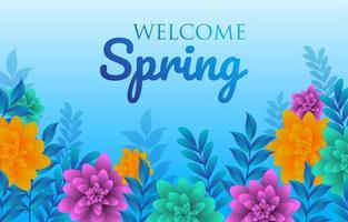 benvenuto modello di progettazione di primavera vettore