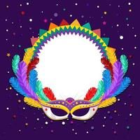 sfondo mardi gras con maschera colorata vettore