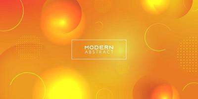 sfondo giallo sfumato moderno. cerchio dinamico astratto per banner, poster e sfondo. vettore