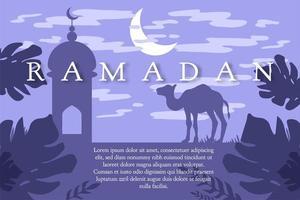 saluto di Ramadan Kareem vettore