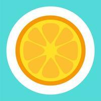 adesivo del fumetto di limone vettore