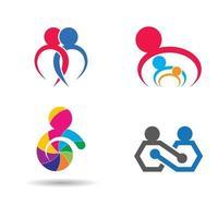 insieme di progettazione delle immagini del logo di cura della comunità