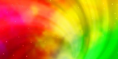 modello vettoriale multicolore chiaro con stelle astratte.