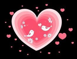 sfondo di san valentino stile carta vettore