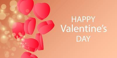 concetto di carta di San Valentino. sfondo romantico. vettore