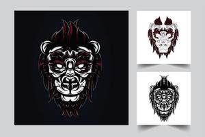 illustrazione di opere d'arte del leone vettore