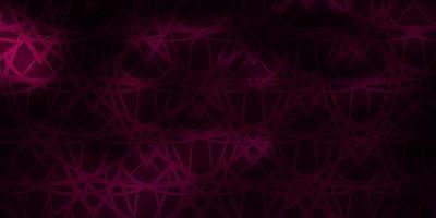 modello vettoriale rosa scuro, blu con linee, triangoli.