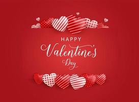 felice giorno di San Valentino design. sfondo di San Valentino